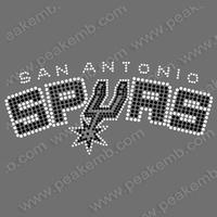 Free Dhl Shipping 30Pcs/Lot Bling Bling Iron On Rhinestone Spurs Custom Transfer Design Hotfix Motif Wholesale