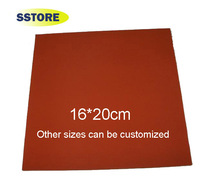 16 * 20cm high temperature silicone pad silicone plate for heat press machine for heat transfer equipment Sublimation