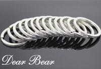 100 pcs/lot Good Quality Iron Round Metal Keyring Rhodium Plated Split Key Ring Part, 30mm, Free Shipping