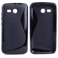 2 Piece a Lot Black BK TPU Gel Soft Case S-Line Wave For Huawei Y511 Hong Kong Seller