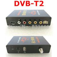 Top quality USB slot 4 video output  2 audio output HD car dvb-t2 digital tv receiver for Thailand Russia