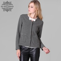 Original Brand 2014 Spring Newest Career Women Favorite Fashion Slim Small Dots Plaid V-neck Slim Jacket For Ladies
