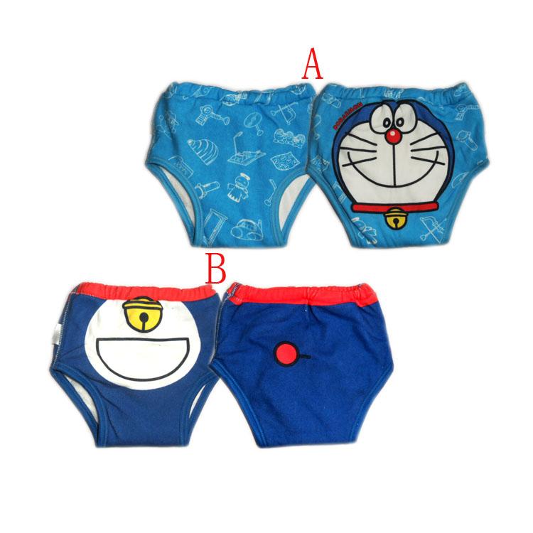 Doraemon cartoon baby four layer learning pants waterproof training pants(China (Mainland))