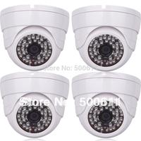 4pcs Onvif H.264 960P 1280*960 HD 1.3 MegaPixel Network IP POE Camera 48 IR Indoor Security Camera