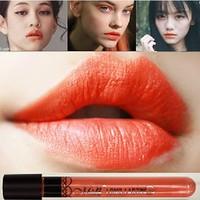 New Arrival Waterproof  Milk Orange Color Lipstick matte smooth lipgloss  24 hours Long Lasting Lip Makeup