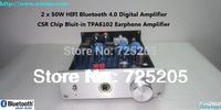 HIFI Bluetooth Digital Amplifier 2X50W Bluetooth4.0 TDA7492 CSR Chip TPA6120 Earphone Amp Automatic Switch Free Shipping