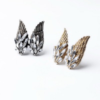 Unique Vintage Women Men Lady Rhinestone Exaggerated Punk Club Shiny Casual Ring SJJ105