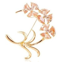 18K GOLD PLATED BROOCH CZ BROOCH JEWELRY FOR GIRLS