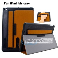 For Apple iPad Air iPad 5 Stand Hand Strap Hold Case,Ultra Slim Luxury Brand PU Leather Cover For iPad Air iPad 1PCSFree Postage