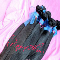 "Queen Hair Products 3pcs/lot Virgin Brazilian Human Hair Natural Color Straight Hair Weft 12"" -28"" High Quality DHL / UPS"