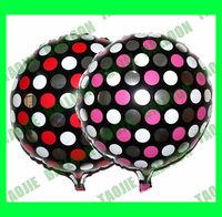 100 pcs/Lot Free shipping New arrive Polka Dot Balloon,foil decoration balloons