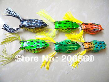 Горячая! 6 шт. рыбалка лягушка приманки для рыболовные снасти 5.5 см / 12.5 г Topwater песка искусственные приманки лягушки приманки