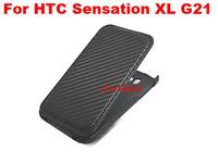 Flip Cover Case Carbon Fiber Case Mobile Phone Leather Case   For HTC Sensation XL G21