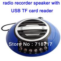 Free shipping! Portable mini speaker FM radio MP3 Speaker with sensitive recording system function