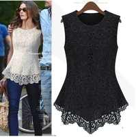 FREE SHIPPING NEW 2014 spring and summer new fashion female lace fashion sexy sleeveless top formal dress Q11