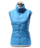 2013 autumn and winter new arrival women's stand collar thermal down vest cotton vest women's mother clothing kaross