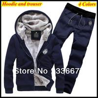 Free Shipping M-XXXXL 2014 Outdoor hooded weatshirts for Men Warm Winter Stylish Hoody Zipper Hoodie Coats QR-1313