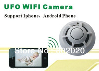 Free Ship!! Spy Smoke Detector WiFi camera Wireless IP Camera Hidden Nanny Cam Video Record UFO P2P support 816GB