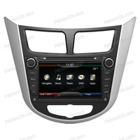 Auto Radio Car DVD Player GPS navigation Bluetooth Ipod Multimeia System for Hyundai Verna/ Solaris