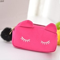 Free shipping Cartoon cat style woman's Coin Purse wallet Cute animal phone bag Handbag