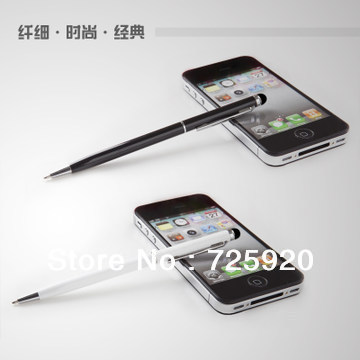 10pcs/lot 2 in 1 Capacitive Stylus + Ballpoint Pen Touch Pen for iPad iPhone Samsung Tablet PC Cellphone, Free Shipping(China (Mainland))