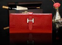 Classic women's wallet genuine leather long wallet cowhide women's design day clutch bags