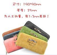 New Arrived Women Long Design PU Leather Wallets for Women Single zipper beard wallets Women wallets Purse 19*9*2.5cm