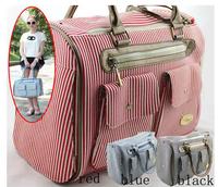 Pet dog bags pet travel bag nylon bag quality stripe bag