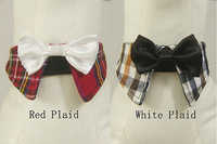 Pet supplies dog accessories pet bow tie dog bow tie hongbai 2 check bow tie