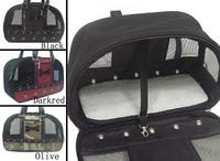 Pet window shoulder bag pet bag comfortable breathable bones pattern nylon dog cat pack
