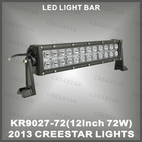 "72W 12"" off road light bars,OFFROAD LED light ,LED WORK LIGHT bars from Guangzhou CREESTAR led lights KR9027-72"