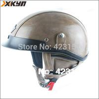 Fashion leather motorcycle Halley helmet  retro open face helmet,german style half helmet  100% handcrafted