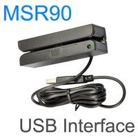 USB RS232 PS2 3 Tracks MSR MCR Magnetic Stripe Card Reader Wholesale Free Shipping MSR90
