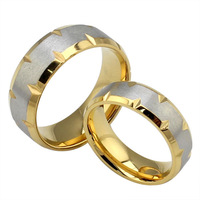 gold rings for his and her  fashion wedding rings  stainless steel  couple  jewelry   rings sets R-026
