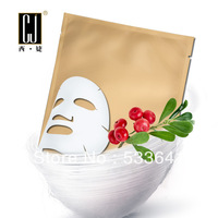 Wholesale free shipping moisturzing Glycosides bear fruit green silk mask face care silk peptide invisible silk mask 10pcs/lot