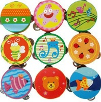 New Hot Wooden Maraca Wood Rattles Kid Musical Party Favor Child Baby Shaker Toy   BIGGER