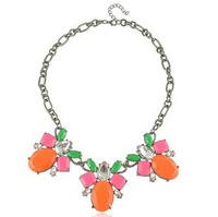Free Shipping (5 Piecess/ Lot) Fashion Club Color Focus Neckalce Sweater Chain