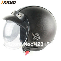 Fashion leather motorcycle cruise helmet  retro open face helmet,german style half helmet  100% handcrafted