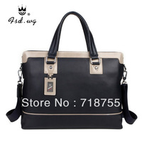 2013 new arrival handbag fashion leather totes business casual briefcase men's messenger bag shoulder bags computer bag hot sale