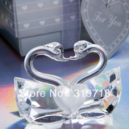 Creative wedding wedding gift xinxin dependencies couples crystal swans new home furnishing articles(China (Mainland))