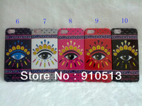 Newest Arrival Paris KZ Eyes Hard PC Case with Retail package for iphone 4/4s/5/5s/5c free shipping 10 colors