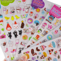 30pcs/lots Cute animal cartoon animal pvc crystal mobile phone stickers  10g