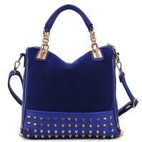 2014 women's handbag casual bag bucket bag portable rivet handbag scrub messenger bag tote shoulder bag LF06679a