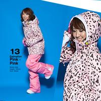 Outdoor monoboard plus cotton ski suit female skiing clothing ski suit set windproof waterproof top