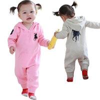 Hot-selling PL girl hooded romper long-sleeve romper babysuit