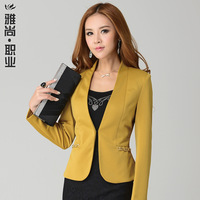 2013 Slim women blazer outerwear long-sleeve autumn blazer black tuxedo suit dress AB-66