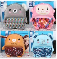 Free Shipping 1PC/Lot Children Child Cute Baby  Monkey Elephant  Animal Girl Boy Kid Kindergarten Bags School Bag Backpack Gift