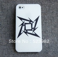 COOL Clear White Case with Black Metallica Logo Thrash Heavy Speed Metal ONE Plastic Case for iPhone 5 5G 5S