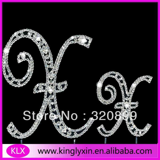 50pcs/lot 12CM each French Style Fashion Rhinestone Cake Topper,Monogram Rhinestone Alphabet CT64(China (Mainland))