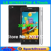 L6 Android Phone With MTK6572W Android 4.2 Dual Core 1.2GHz 3G GPS 4.7 Inch Capacitive Screen Smart Phone